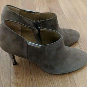 Coach Seneca booties, snake skin heel, 9